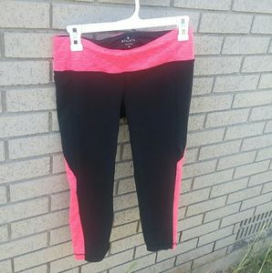 ATHLETABright Coral Yoga Workout Capris